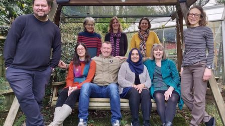 St Albans Sustainability Festival working group: (back row left to right) Sheila Wright, Nicola Wyet