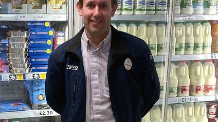 """Somersham shoppers say James is going """"above and beyond"""" to help villagers through the crisis"""