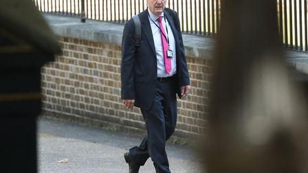 Sir Edward Lister, Boris Johnson's chief of staff, arrives in Downing Street in London. Picture: Yui
