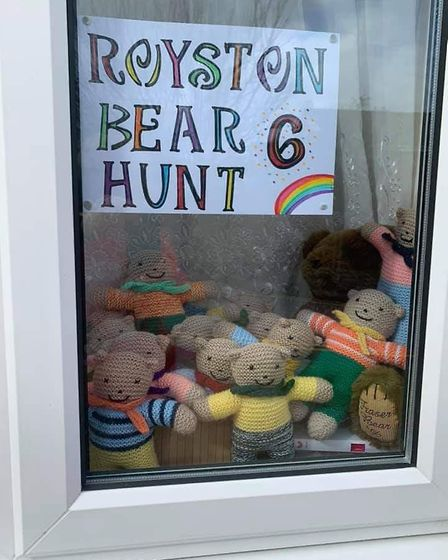 Christine Brown's bear 6 in Royston. Picture: Christine Brown