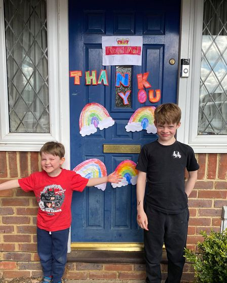 St Albans residents are being asked to decorate their front door to cheer up postal staff. Arthur (n