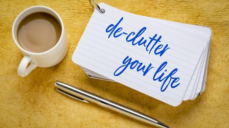 Now is the ideal time to tackle the decluttering projects you've been putting off. Picture: Getty Im