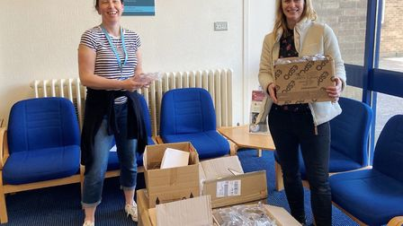 Staff at St Peter's School supplied goggles and science equipment to Hinchingbrooke Hospital