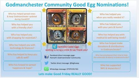 Godmanchester Good Egg Nominations PICTURE: Hannah