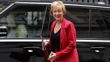 Business Secretary Andrea Leadsom arrives at 10 Downing Street in London. Picture: Aaron Chown/PA Wi