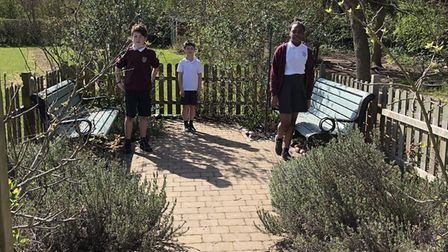 Park Street School pupils of keyworklers have been enjoying some gardening while their parents are a