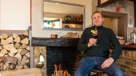 Ivan Titmuss, landlord of The Fox and Duck pub in Therfield, is hosting live 'cookalongs' which cust