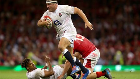 Welwyn Garden City-born Jamie George in action for England against Wales in August 2019. Picture: DA