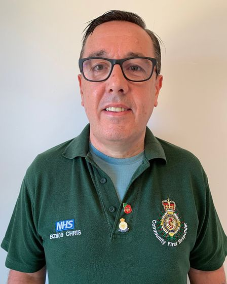 Chris Raeside, who works for the ambulance service in Royston. Picture: Supplied