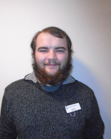 Kurtis, who works at Richard Cox House care home in Royston. Picture: Davina O'Flanagan