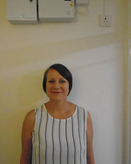 Laura, who works at Richard Cox House care home in Royston. Picture: Davina O'Flanagan
