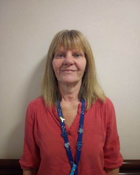 Tracey, who works at Richard Cox House care home in Royston. Picture: Davina O'Flanagan