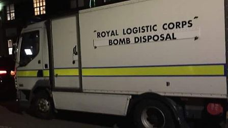 The bomb safely detonated what was thought to be a First World War shell in Harpenden. Picture: Kim