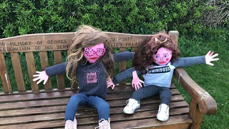 Legends of the Bench Fen Drayton Scarecrow competition PICTURE: Francis Barett