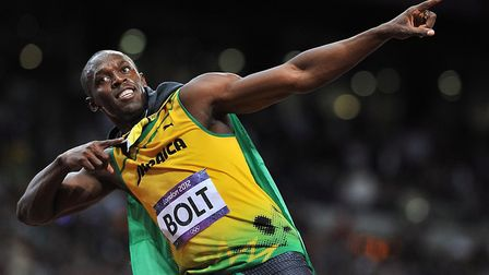 Q2. What is the current 100m mens world record set by Usain Bolt in 2009? Picture: MARTIN RICKETT/PA