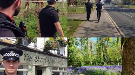 St Albans Operation Scorpion officers from Herts police walked miles to support colleagues across th