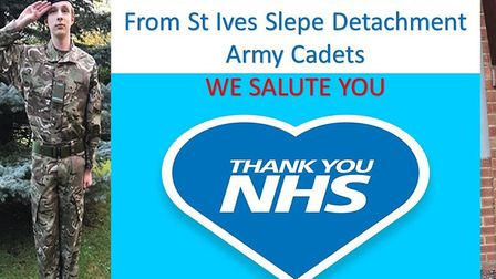 Cadet Connor Button and Corporal Megan Buttress of the Slepe Detachment Army Cadets in St Ives.