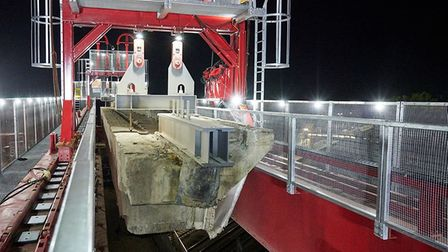Work has now started on the removal of the Huntingdon viaduct