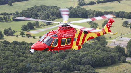 A cyclist was taken to Addenbrooke's Hospital by air ambulance after being involved in a crash. Pict