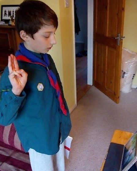 St Albans Scouts, Cubs and Beavers held a virtual renewal of promise for St George's Day.