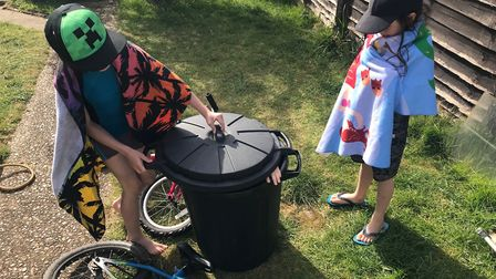 Jane's kids have been making finding new ways to enjoy their garden. Picture: Jane Howdle