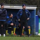 Mickey Nathan (left) will continue as head coach of Harpenden Town after replacing Martin Standen (r