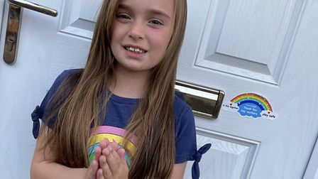 Lily Thorpe, aged eight, from Maple Drive in Huntingdon