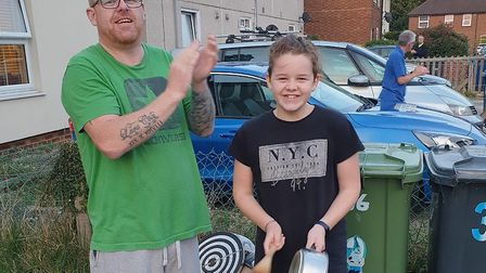 Lara Cox, aged 11, with her dad Lee in St Neots.