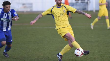 St Albans City coach Lee Allinson made his debut in the Herts Charity Cup final. Picture: BOB WALKLE
