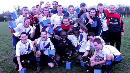 The domestic treble in one St Albans Sunday League season has been done six times, including by Quee