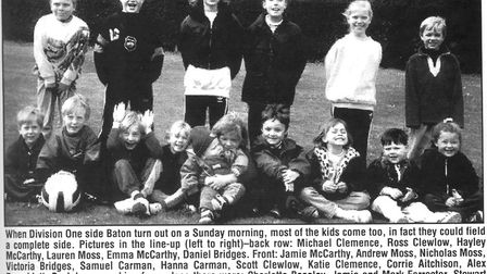Where are they now? This photo of the junior supporters club at Baton was taken back in 1996, Pictur