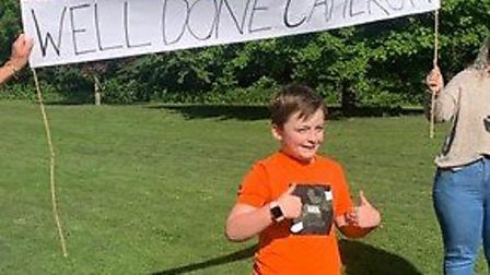 Cameron Hall from St Neots at finish line PICTURE: He