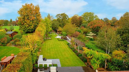 The rear garden backs onto the local park. Picture: Frost's