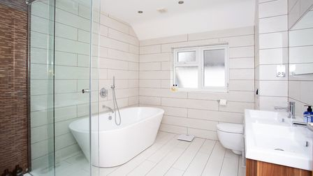 There is a four piece family bathroom on the first floor. Picture: Frost's