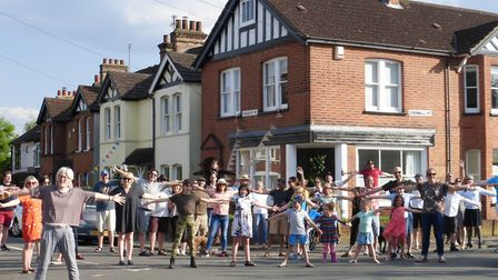 Ramsbury Road residents capture a 'postcard' shot. Picture; Supplied