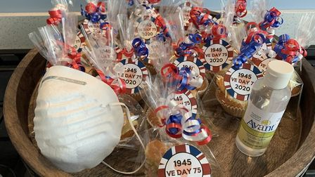 Amanda Green of Belsize Close made some VE Day goodies for her street. Picture: Amanda Green