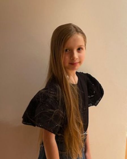 10-year-old Freya Seneviratne from Harpenden is sacraficing her long hair to help raise money for th