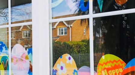 Nate and Emma Hobbs' art displayed for the St Albans Easter Trail. Picture: Supplied