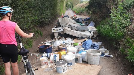 There has been in increase in fly tipping as waste and recycling centres have closed amid the corona