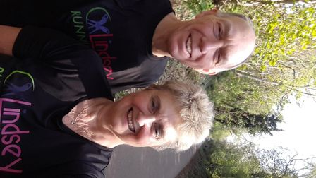 Peter Aubusson and Jacqui Dixon walked a route around St Albans which spelled out the letters NHS.