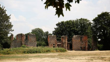 The ruins of Sopwell Nunnery on Cottonmill Lane, St Albans. Picture: DANNY LOO