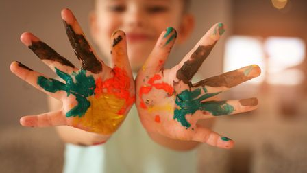 Here's a chance for the kids to get creative during lockdown. Picture: Getty Images/iStockphoto