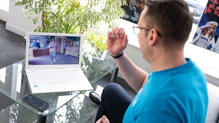 John Molyneux has been sharing his workouts for his elderly clients via Facebook Live since the coro