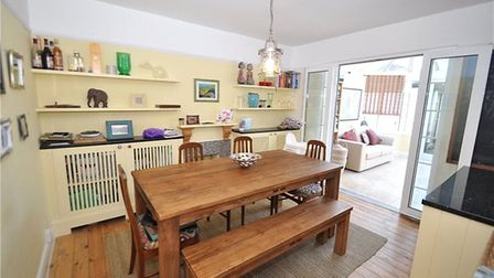 The kitchen/diner leads through to a conservatory. Picture: Collinson Hall