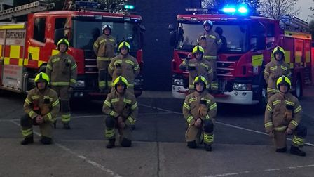 Royston firefighters have been honouring key workers by taking part in the 'clap for our carers' ini