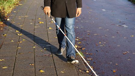 Social distancing can prove difficult to people with sight loss.
