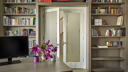Working from home: a functional bespoke modern room created by Brayer Design. Picture: Brayer Design
