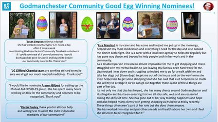 Good Egg Nomination Winners PICTURE: Hannah Tu