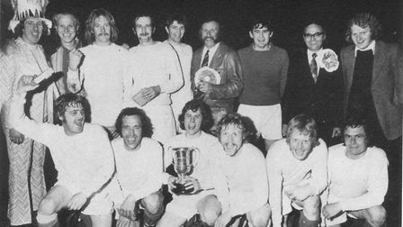 The victorious Queen's Head, the shock winners of the 1972-73 Knockout Cup. Picture: BRIAN HUBBALL