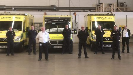 On call firefighters PICTURE; Cambridge